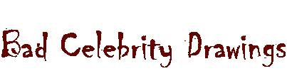 Bad Celebrity Drawings Logo